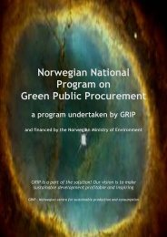 Norwegian National Program on Green Public Procurement