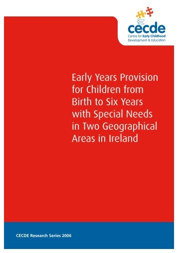 Early Years Provision - Centre for Early Childhood Development ...