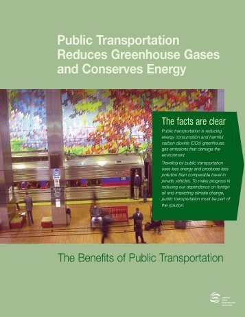 Public Transportation Reduces Greenhouse Gases and Conserves ...