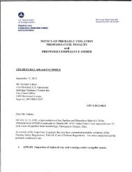 notice of probable violation proposed civil - PHMSA - Department of ...