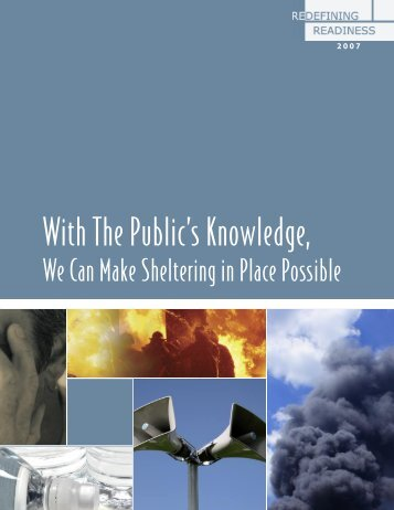 With the Public's Knowledge, We Can Make Sheltering - Redefining ...