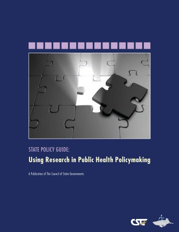 Using Research in Public Health Policymaking - The Council of ...