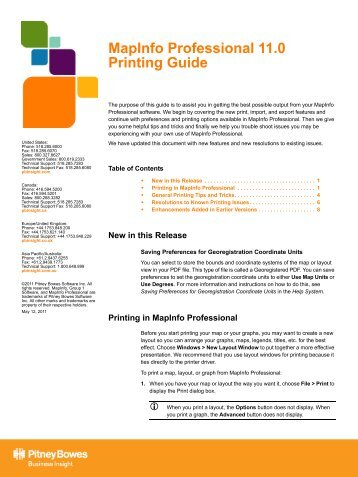 MapInfo Professional 11.0 Printing Guide - Product Documentation ...