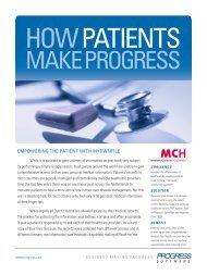 How Patients Make Progress - Progress Software