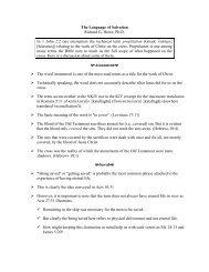 The Language of Salvation Richard G. Howe, Ph.D. In 1 John 2:2 ...