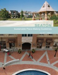 Sustainable Place-Making Guidelines for Seaton - City of Pickering
