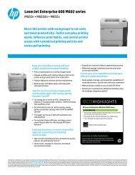 LaserJet Enterprise 600 M602 series - HP Home & Home Office