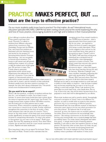 Practice makes Perfect, but...what are the keys - Musiceducationworld