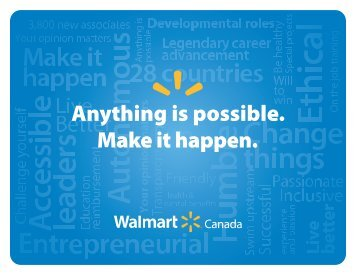 Anything is possible. Make it happen. - Walmart Canada