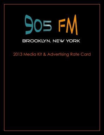 2013 Media Kit & Advertising Rate Card
