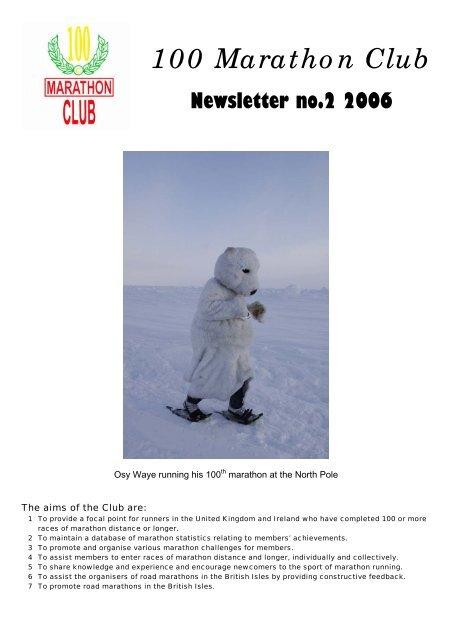 Main Newsletter - 100 Marathon Club
