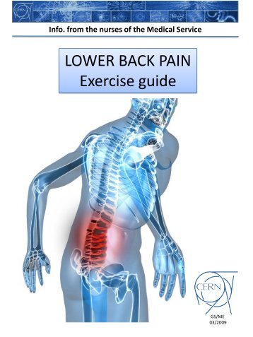 LOWER BACK - PAIN EXERCISE GUIDE One of the core messages ...