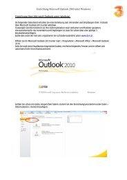 Einrichtung Ihres Microsoft Outlook unter Windows