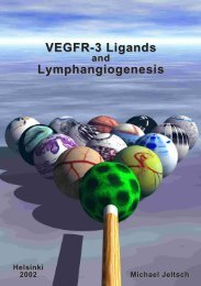 VEGFR-3 Ligands and Lymphangiogenesis - E-thesis - Helsinki.fi