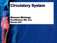 Circulatory System - Fall River Public Schools