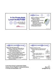 In the Know about Lymph Nodes Fields