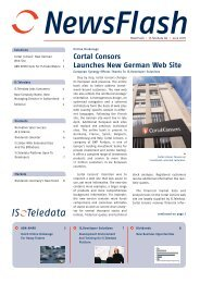 Cortal Consors Launches New German Web Site - Interactive Data