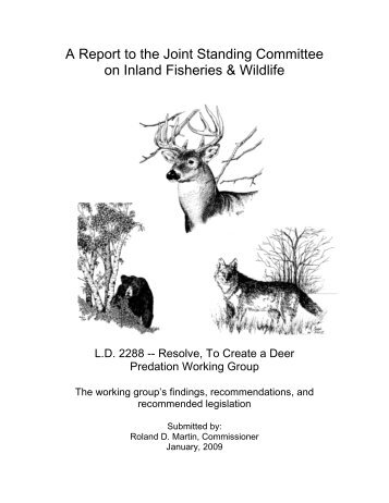 Deer Predation Working Group Report - Maine.gov