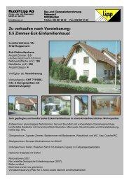 5.5 Zimmer-Eck-Einfamilienhaus! - Lipp AG