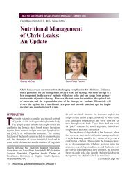 Nutritional Management of Chyle Leaks: An Update - Medicine ...