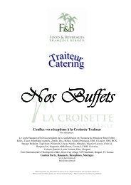 Buffets chauds froids - Restaurant La Croisette
