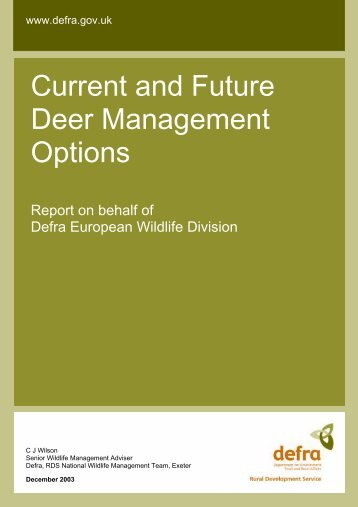 Current and Future Deer Management Options - Natural England