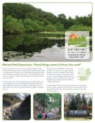 Winter 2010-2011 newsletter - Land Conservancy of West Michigan