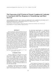 The Expression of p53 Protein in Chronic Lymphocytic Leukemia is ...