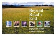 Beyond Road's End - National Park Service