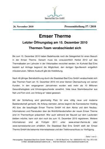 Emser Therme - Staatsbad Bad Ems
