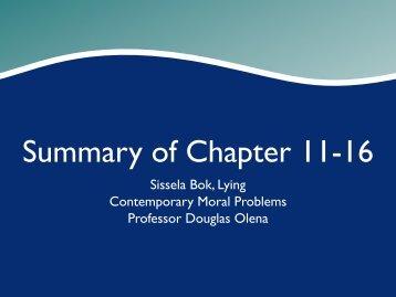 Summary of Chapter 11-16 - Olena's