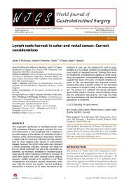 Lymph node harvest in colon and rectal cancer - World Journal of ...