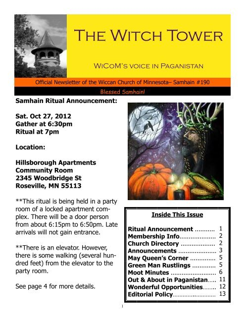 The Witch Tower - Wiccan Church of Minnesota