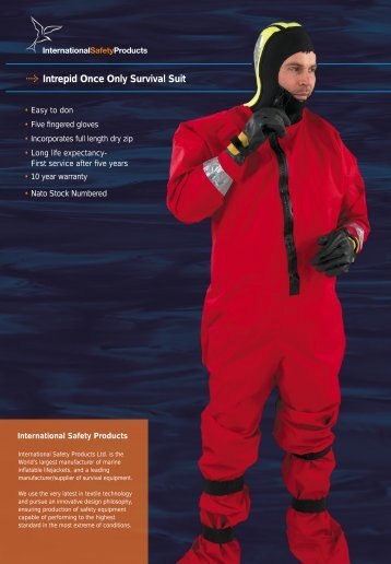 Intrepid Once Only Survival Suit - International Safety Products