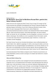 Swiss Culinary Cup 2011 26.10.2011 - Hotel & Gastro Union