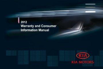 Warranty and Consumer Information Manual - Kia Motors America