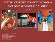 biological sampling manual - Northeast Fisheries Science Center ...