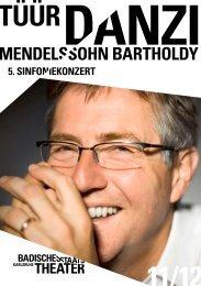 Programmheft 5. SINFONIEKONZERT - Badisches Staatstheater ...