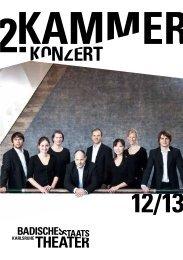 Programmheft - Badisches Staatstheater Karlsruhe