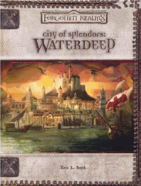 Forgotten Realms ~ Waterdeep ~ City of - Alexisalvarez org