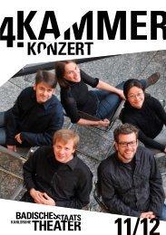 4. KAMMERKONZERT - Badisches Staatstheater Karlsruhe