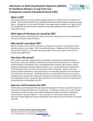 Information on Multi-drug Resistant Organisms (MDROs) for ... - DHHR