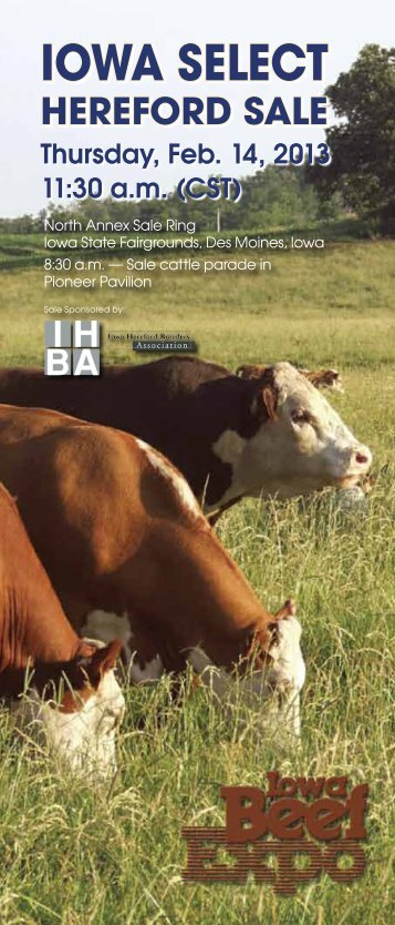 Catalog - Iowa Hereford Breeders Association