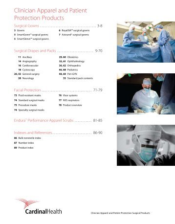 Clinician Apparel and Patient Protection Products - Cardinal Health