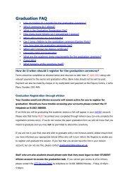 Graduation FAQ - University of Dundee