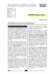 INFO-BULLETIN ST&P ST&P - bei Dr. Steiner & Partner AG