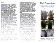 Hair Extensions leaflet >>> HERE - Absolute Fitness Hair & Beauty
