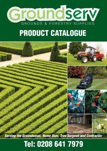 PRODUCT CATALOGUE Tel: 0208 641 7979 - Groundserv.co.uk