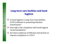 Hand hygiene improvement: a priority in long-term - ECDC