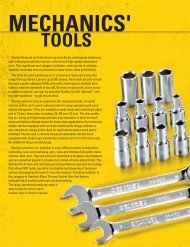 Stanley Hand Tools Catalog - Mechanics' Tools